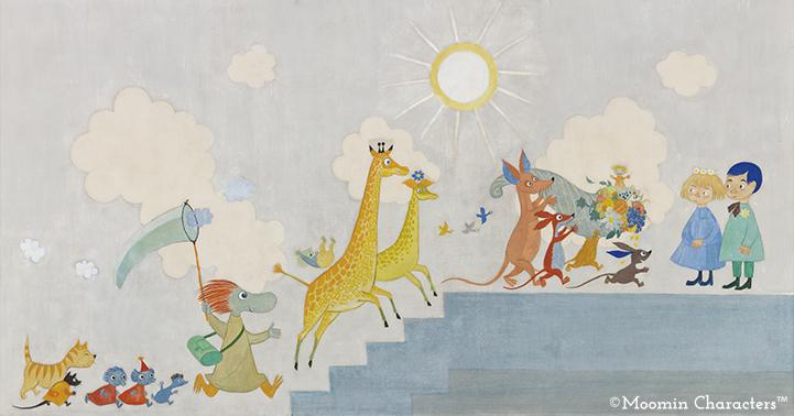 Moomin murals at the Aurora Children's Hospital - Moomin