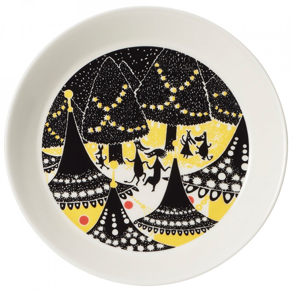Arabia_Moomin_Collectors_Plates_Keltainen_Yellow_Hurraa_Party