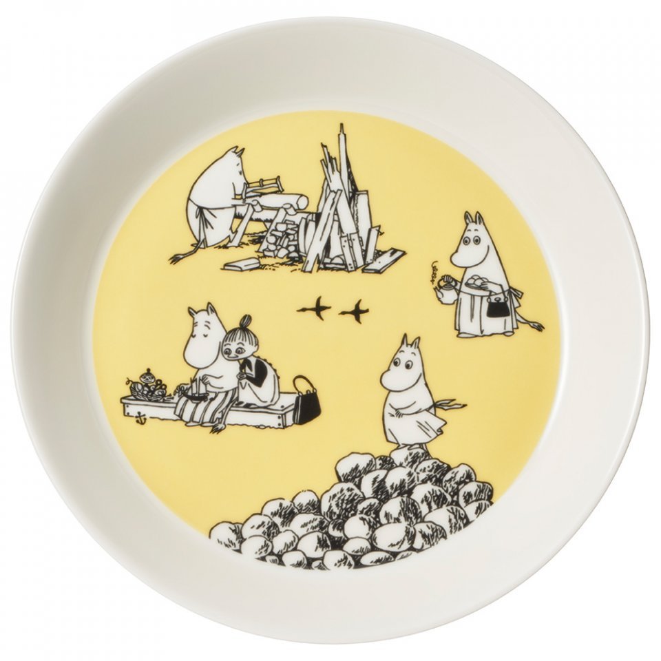 Arabia_Moomin_Collectors_Plates_Yellow_Keltainen_Whole_Moominmamma