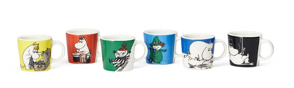 Moomin mini mugs by Arabia 2019